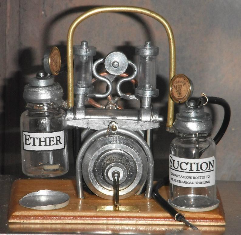 Dollhouse Miniature Embalming pump 1/12th hospital asylum morgue