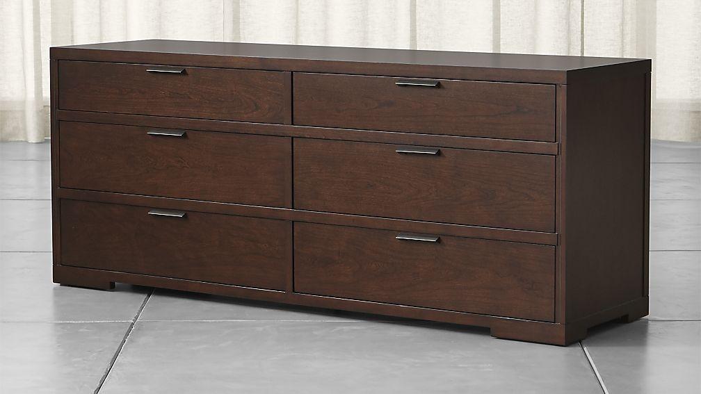 Asher 6 Drawer Dresser Crate And Barrel Home Dresser 6 Drawer