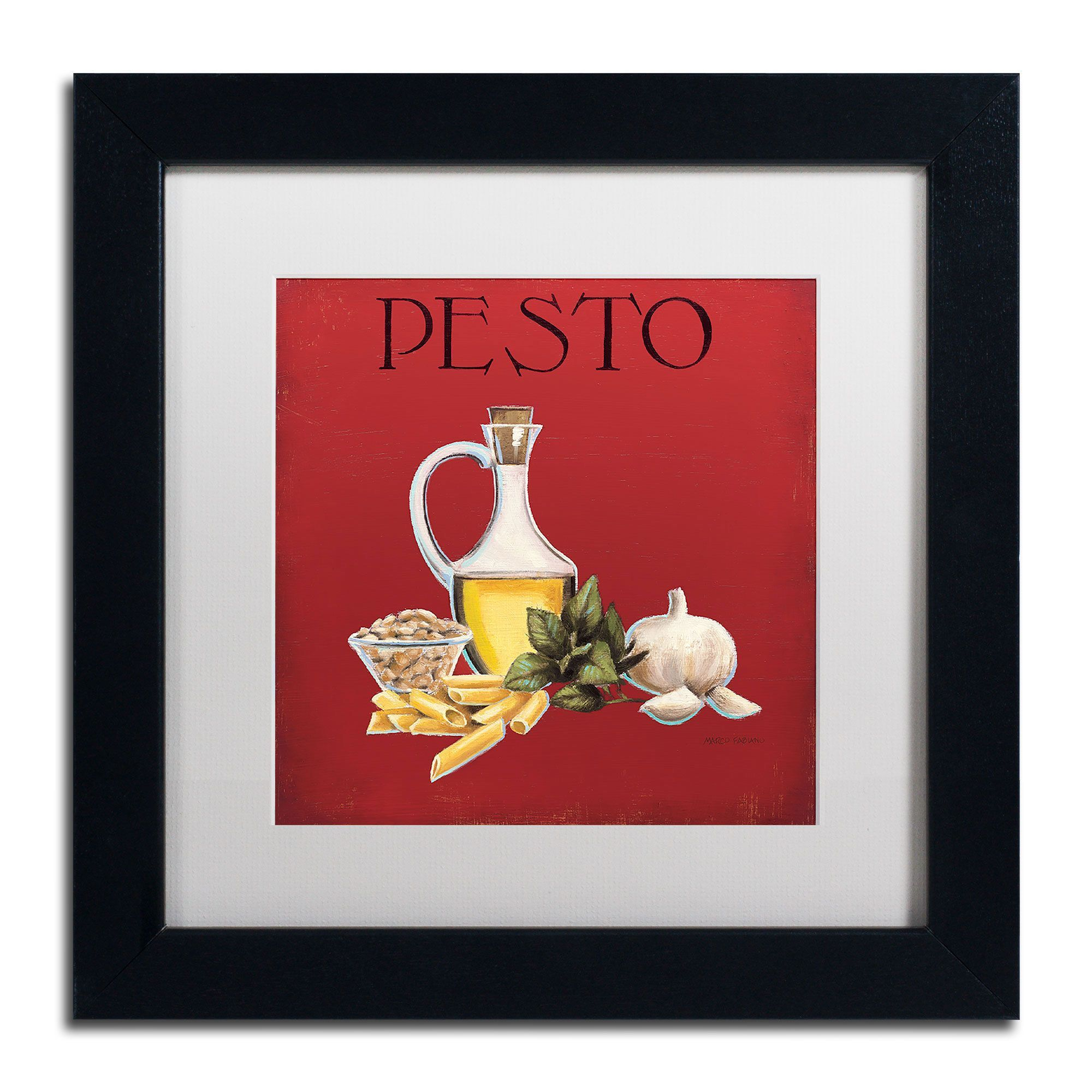 Marco fabiano uitalian cuisine iiu framed matted art products