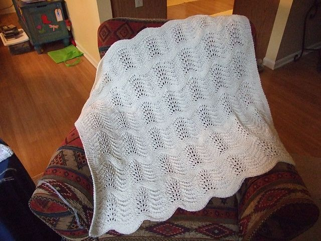 Ravelry: Feathered Baby Blanket pattern by Kaye Smith | Knitting ...