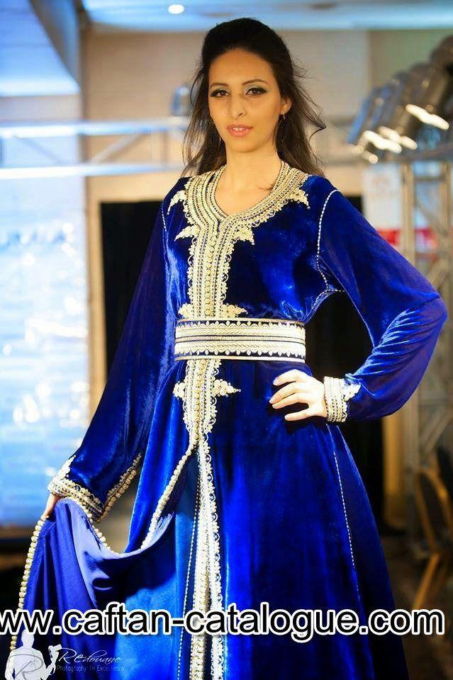 Takchita marocaine bleu roi caftan pinterest for Salon marocain bleu roi
