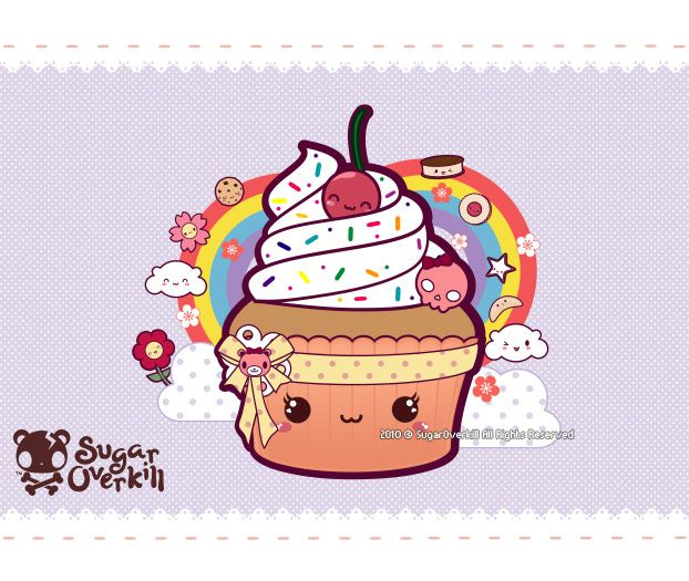 Kawaii Cupcake by mAi2x-chan.deviantart.com on @deviantART