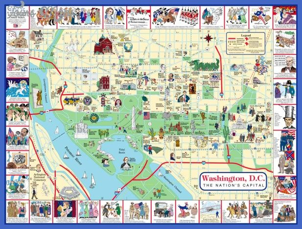 Washington Dc Attractions Map awesome Washington Map Tourist Attractions | Tours Maps in 2019