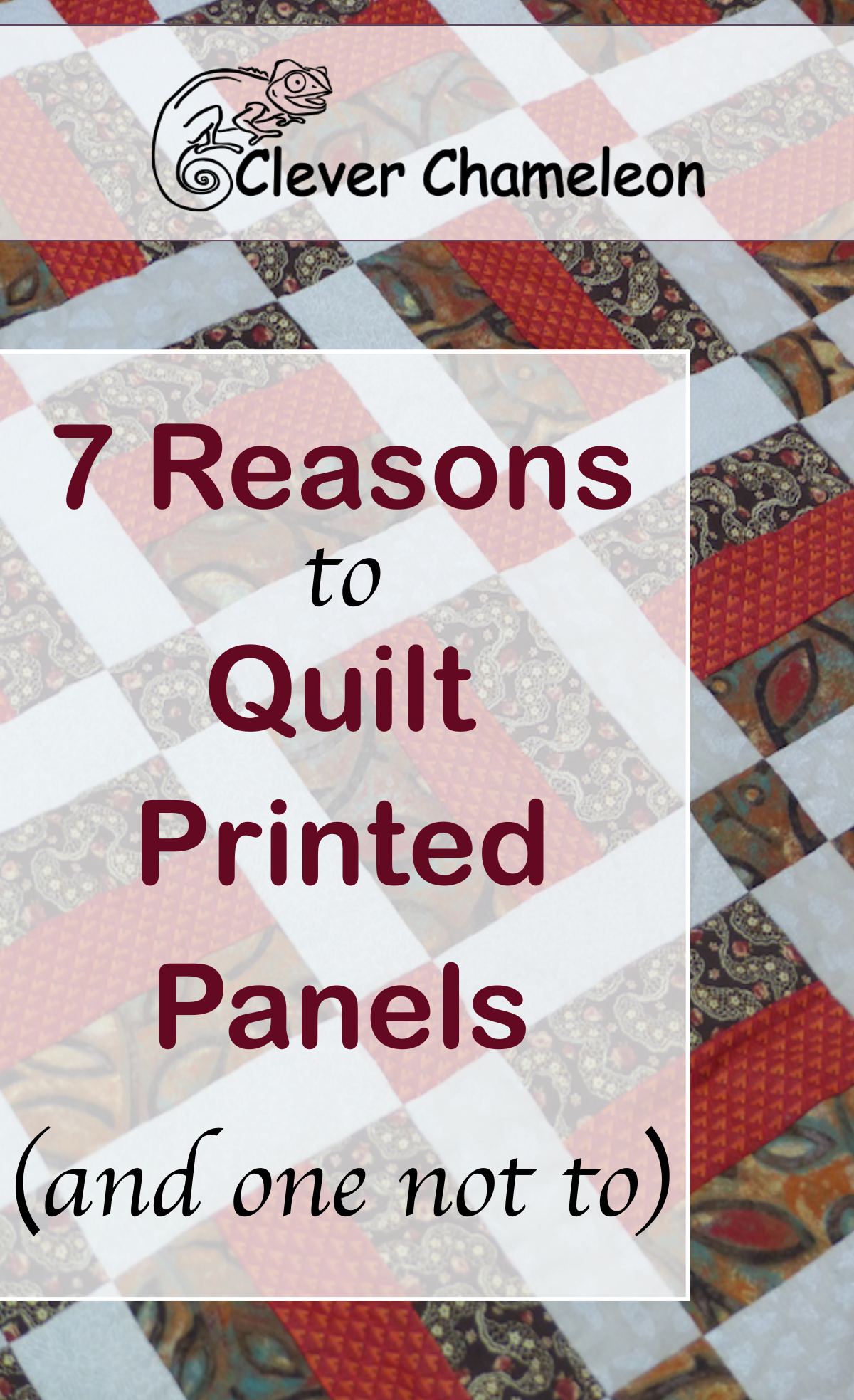 Why you should quilt pre printed panels and what to watch out for