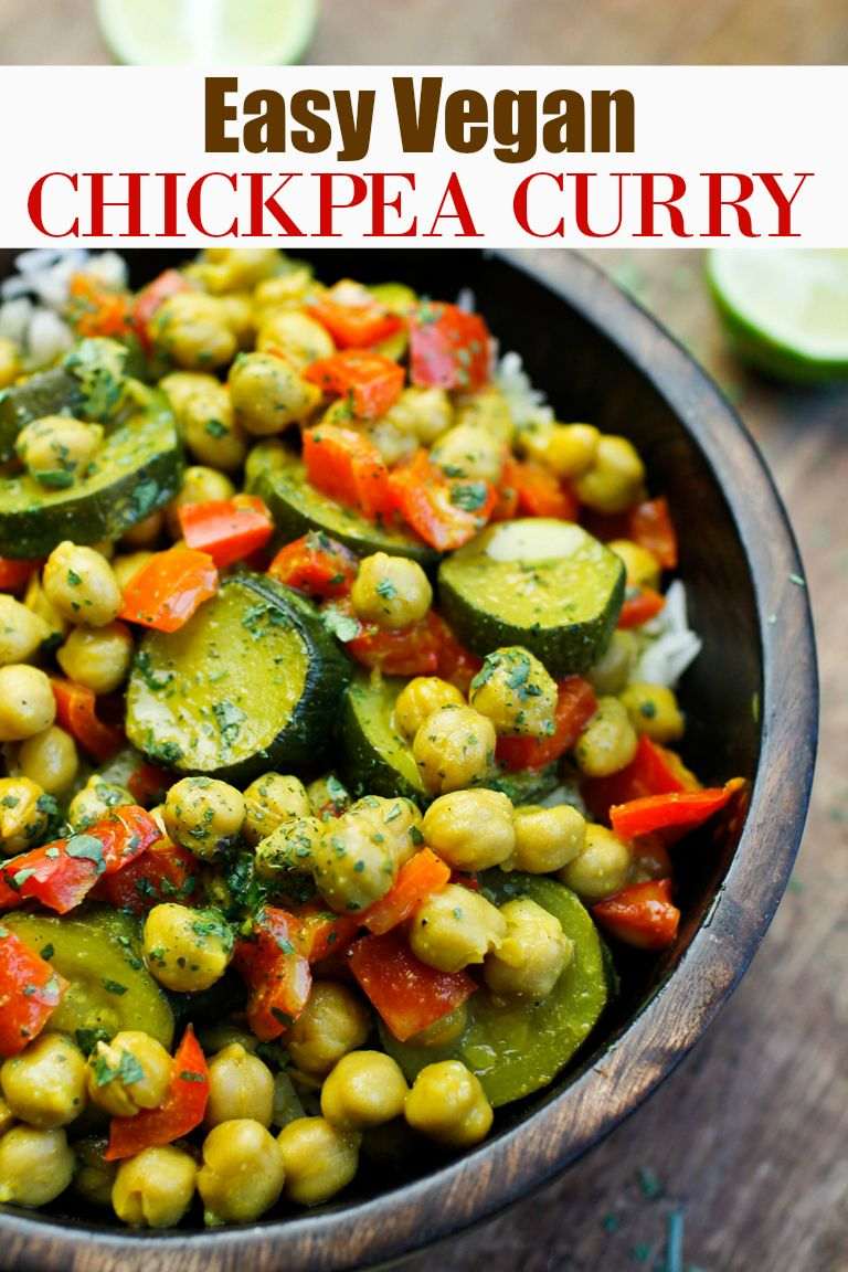 This amazing EASY VEGAN CHICKPEA CURRY uses a homemade spice blend that is what we all need to have curry anytime we want quick and fast and without having to measure each ingredient when that curry craving hits. Keep it store in your pantry and add it to veggie and plant milk and in less than 30 minutes you will have a delicious homemade vegan curry! via @thevegan8