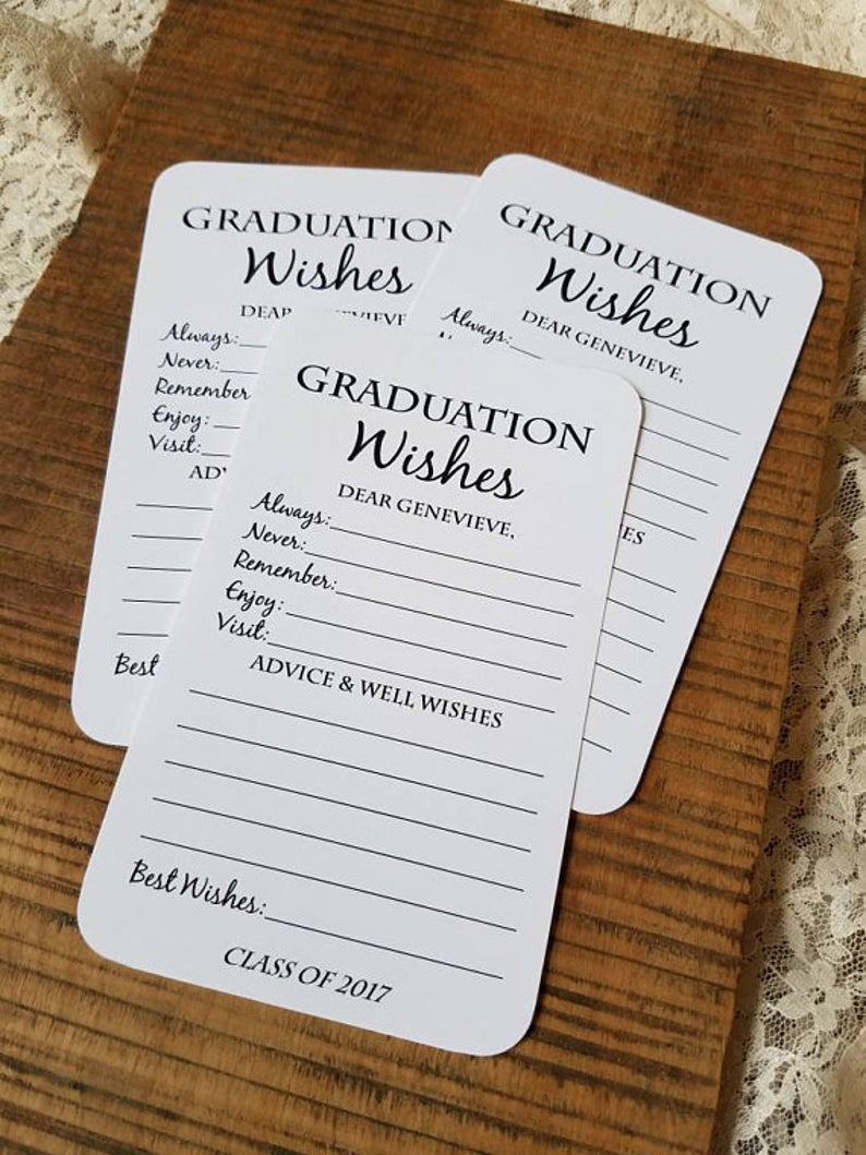 Set of 12 Graduation Wishes Cards - Advice Cards for Graduation Party - Graduation Party Decorations - Graduation gift - Graduation advice