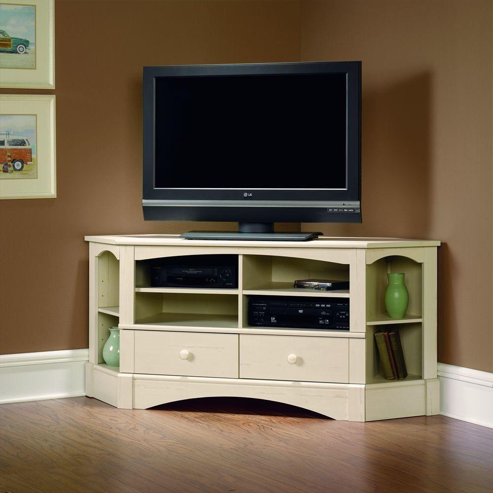 Corner Tv Stand Console Dvd Media Storage Center 6 Shelves 2 Drawers Living Room Swco