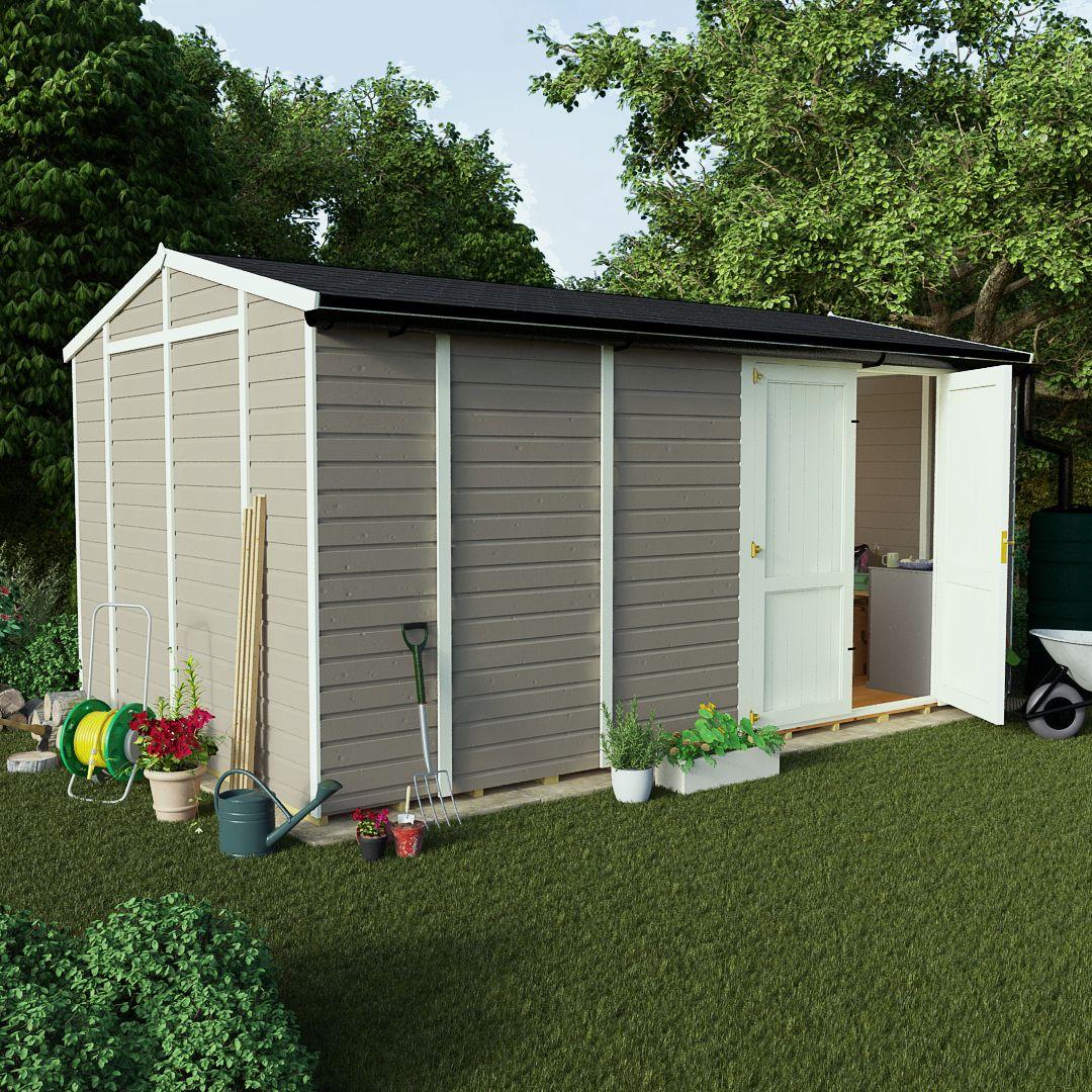 billyoh 6000 16 x 10 wooden workshop offset door windowless i