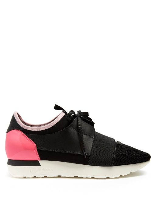077a81834d0a BALENCIAGA Race Runner panelled low-top trainers.  balenciaga  shoes   sneakers