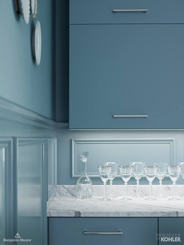 Benjamin Moore Providence Blue On Cabinets Paint
