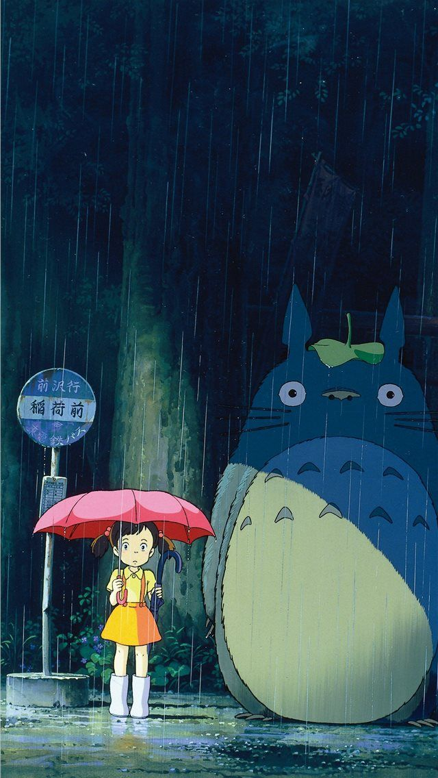 My Neighbor Totoro Phone in 2020 iPhone Wallpapers