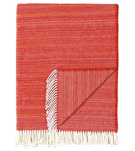 Stri� Tangerine Throw from Eastern Accents