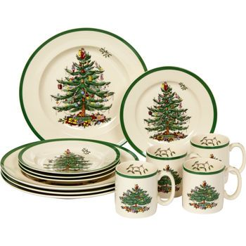 Costco: Spode Christmas Tree 12-pc Dinnerware Set | Christmas ...