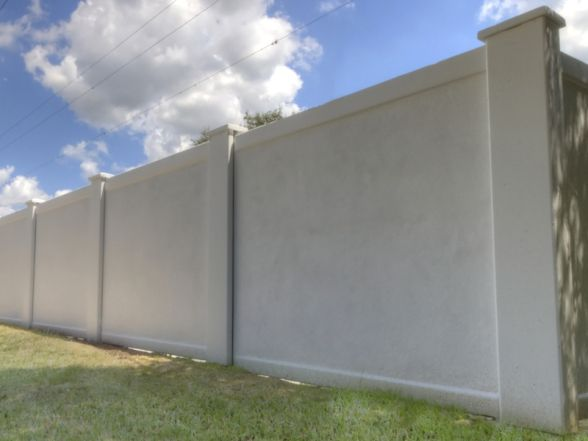 Precast Concrete Perimeter Fencing For Commercial Concrete Fence Projects In Texas Modern Fence Design Fence Design Brick Fence