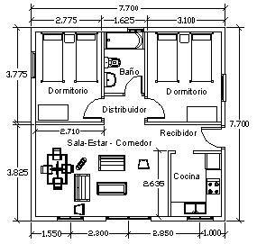 planos de casas sencillas con medidas