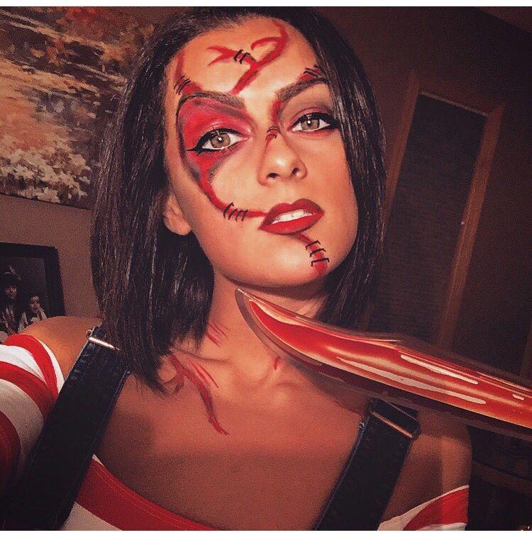 Chucky makeup . Did chucky makeup . Halloween makeup . Chucky ...