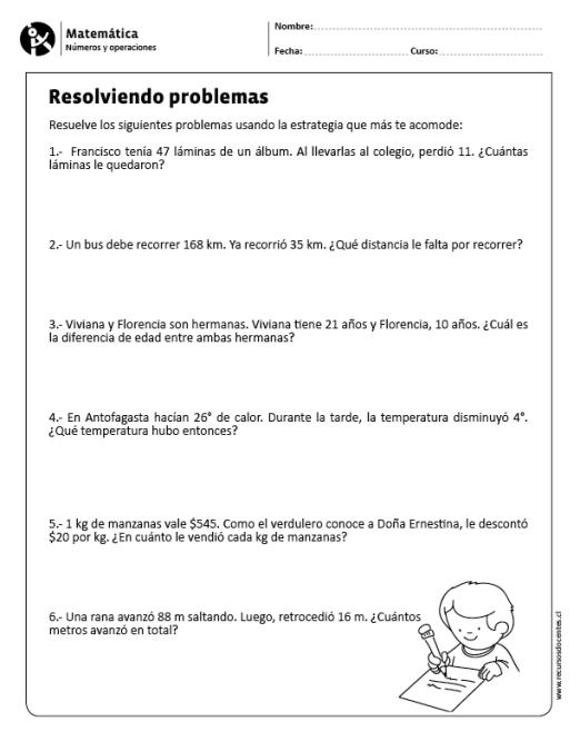 Matematica Numeros Y Operaciones 1 Y 2 Basico Matematicas Tercer Grado Problemas Matematicas 5 Primaria Matematicas Cuarto Grado