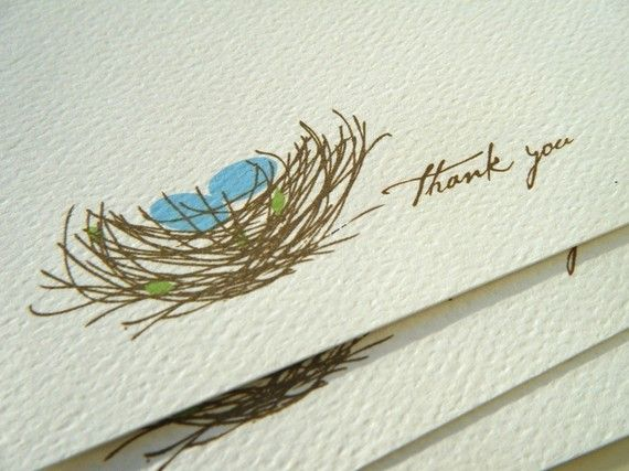 simple nest Thank You note