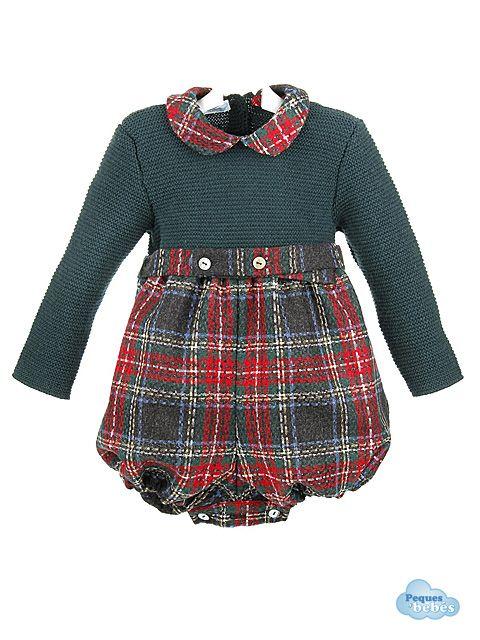 7d1f93b15 Ranita de niño con el cuerpo de lana con manga larga y el pantalón  confeccionado en