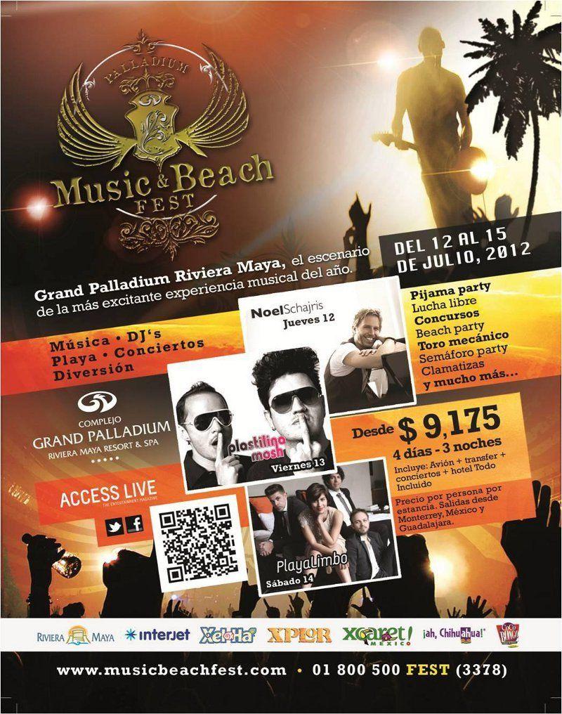 Music Themed Living Room Decor: July 12-15: Music & Beach Fest At Grand Palladium Riviera