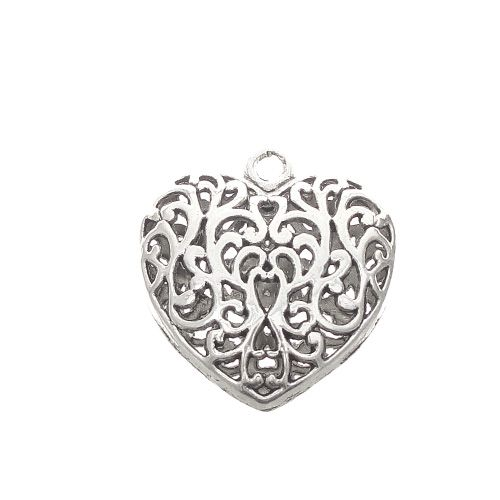 Antique silver pewter 35mm filigree heart pendant feel the love antique silver pewter 35mm filigree heart pendant mozeypictures Image collections