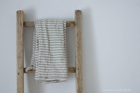 Leinen Handtuch Streifen von KnockKnockLinen auf Etsy, £22.00