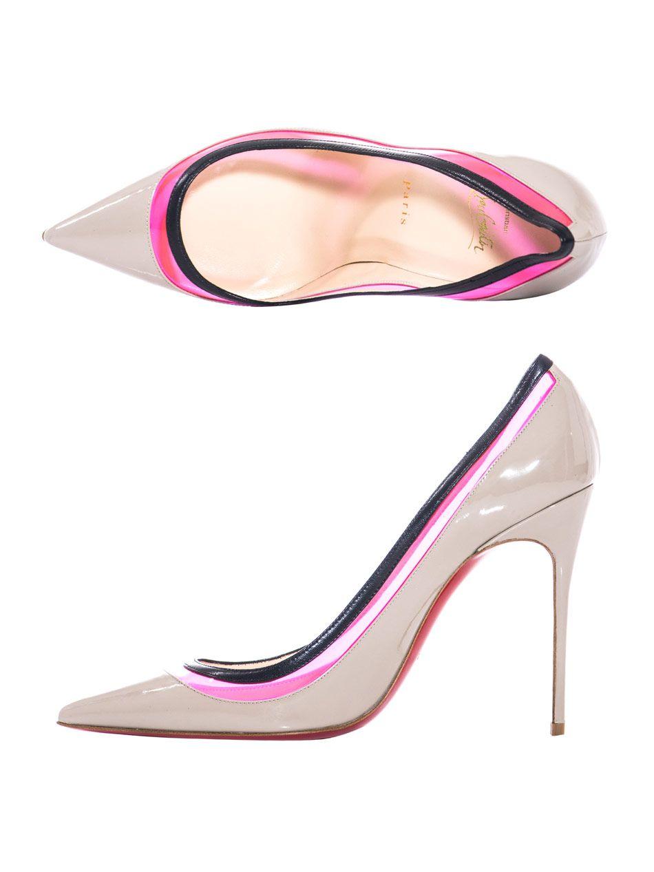 Christian Louboutin 'Aranea' Satin Heels with Strass Embellishment | dawau.com