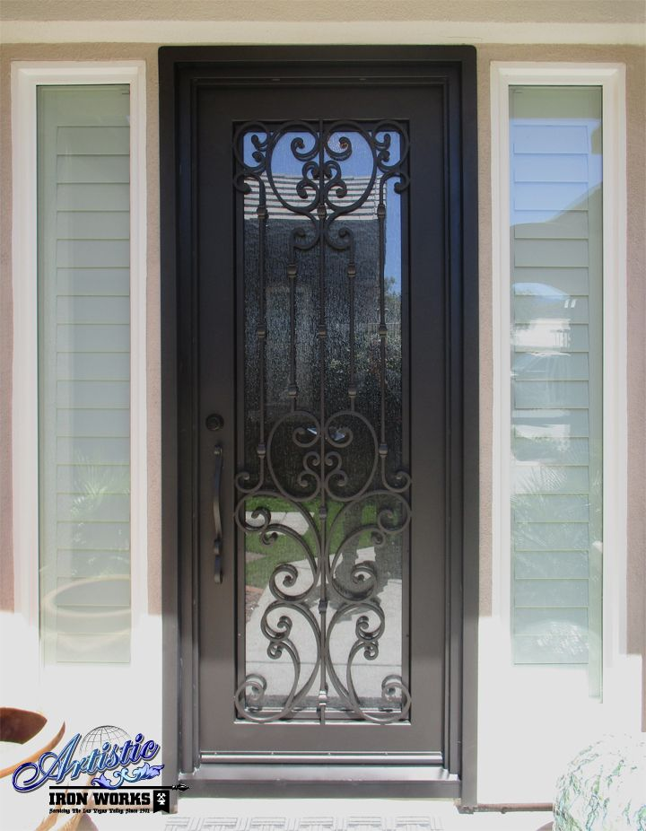 Wrought Iron And Glass Door Model Ge0211 Wrought Iron Glass Grand Entryway Wrought Iron Doors