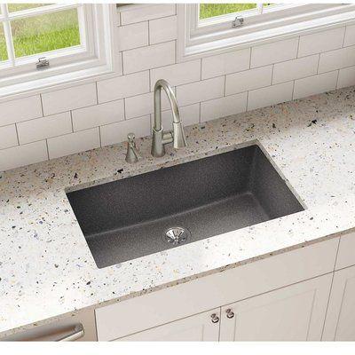 Elkay Quartz Clic 33 X 18 Undermount Kitchen Sink Finish Slate