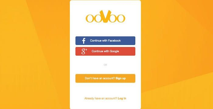 oovoo sign in page