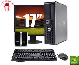 Dell Optiplex Gx520 Desktop Bundle With 17 Lcd Monitor 2 8ghz Intel Processor 2gb Ram 40gb Hd Keyboard Mouse And Sp Lcd Monitor Intel Processors 2gb Ram