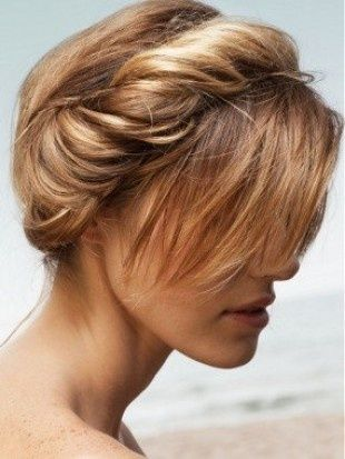 Easy Hairstyles For Short Hair To Do At Home Twisted Milk Maid Braid  Short Hair  Pinterest  Maids Indian