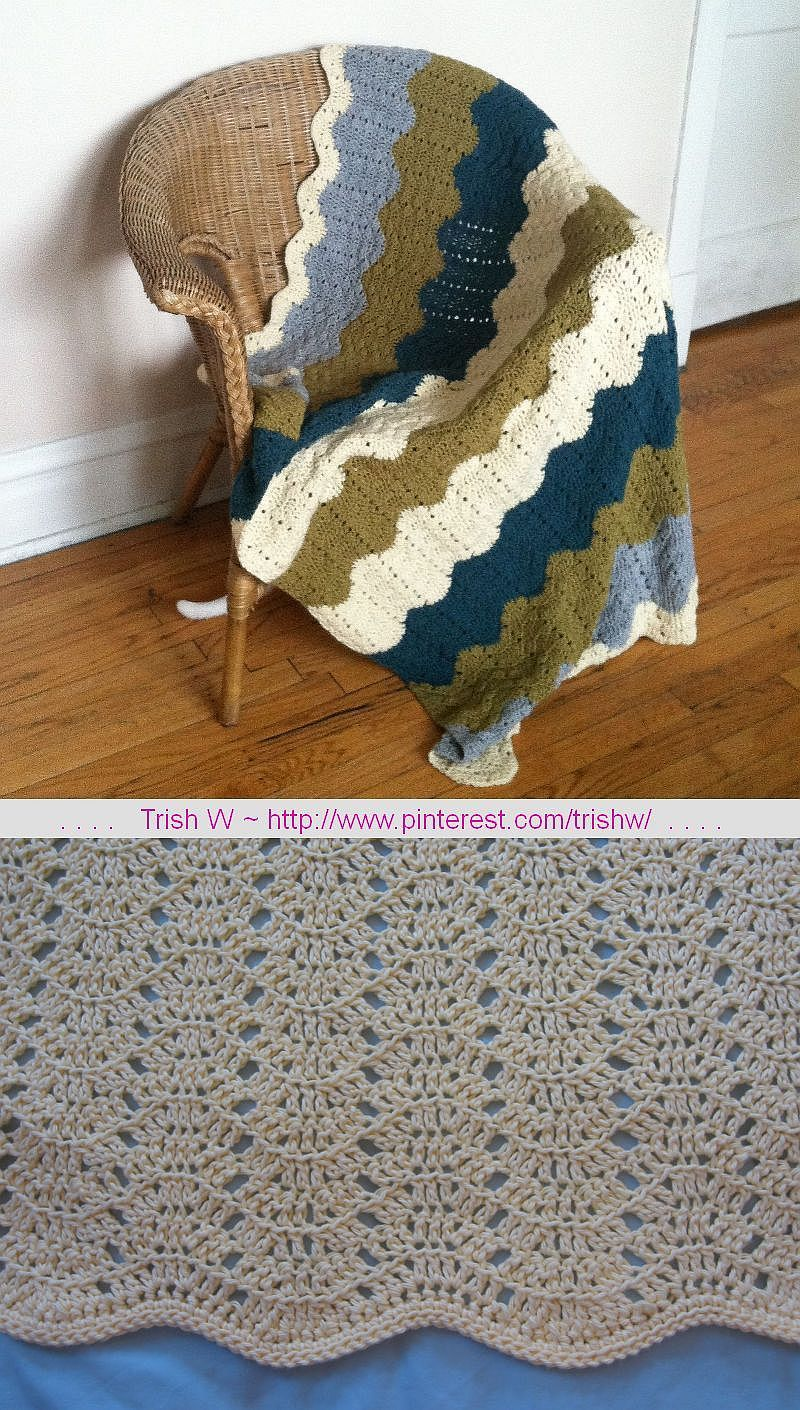 Eyelet Ripple Afghan, free pattern by Heather Tucker of Mama\'s ...