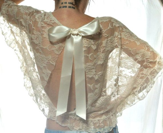 Lace Top Romantic Country Chic Clothes Boho By TrueRebelClothing 6200