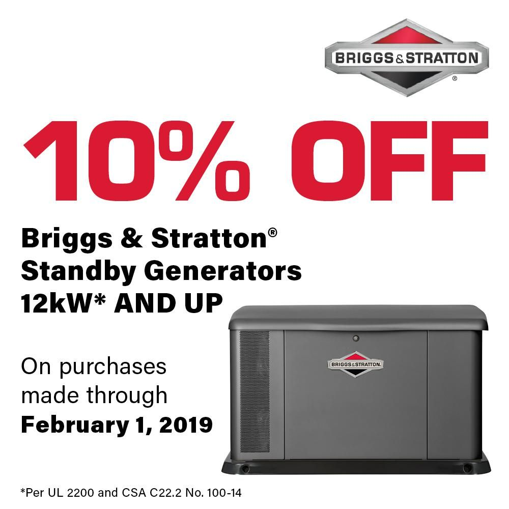 Briggs Stratton 17 000 Watt Air Cooled Home Standby Generator With 100 Amp Symphony Ii Transfer Switch 040554 Transfer Switch Air Conditioning Units Emergency Generator