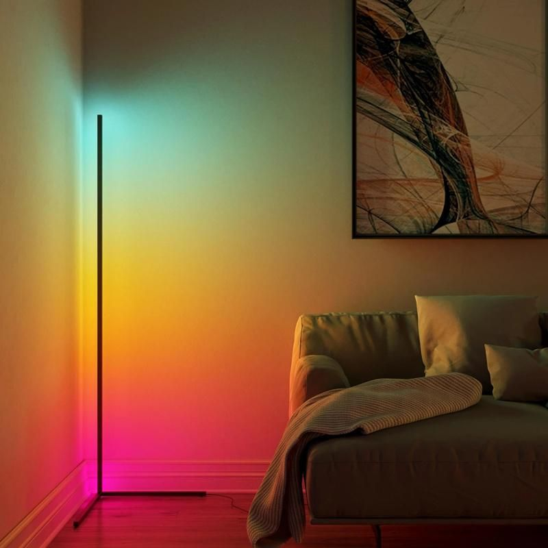 Unique Minimal And Modern Looking Design For Your Space Cornor Lamp Has A Unique And Modern Design That Makes It In 2020 Corner Floor Lamp Led Floor Lamp Corner Lamp