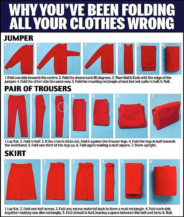 Decluttering guru Marie Kondo shares her top packing tips #foldingclothes