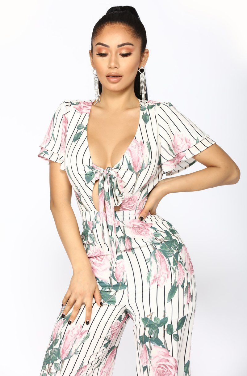 9feee02850e1 Faking It Floral Jumpsuit - White