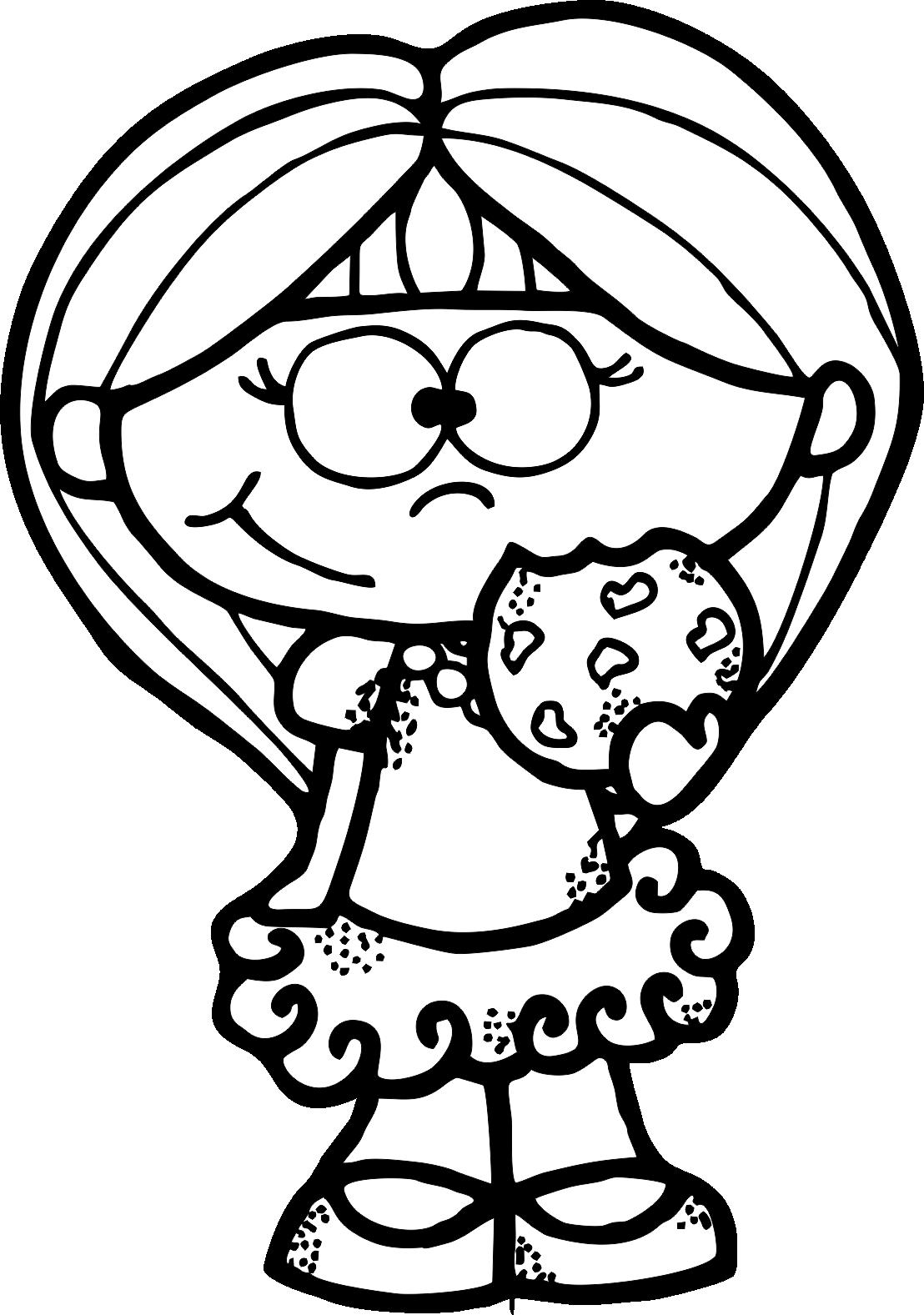 Cookie Girl Bw Png 1108 1577 Boyama Sayfalari Boyama