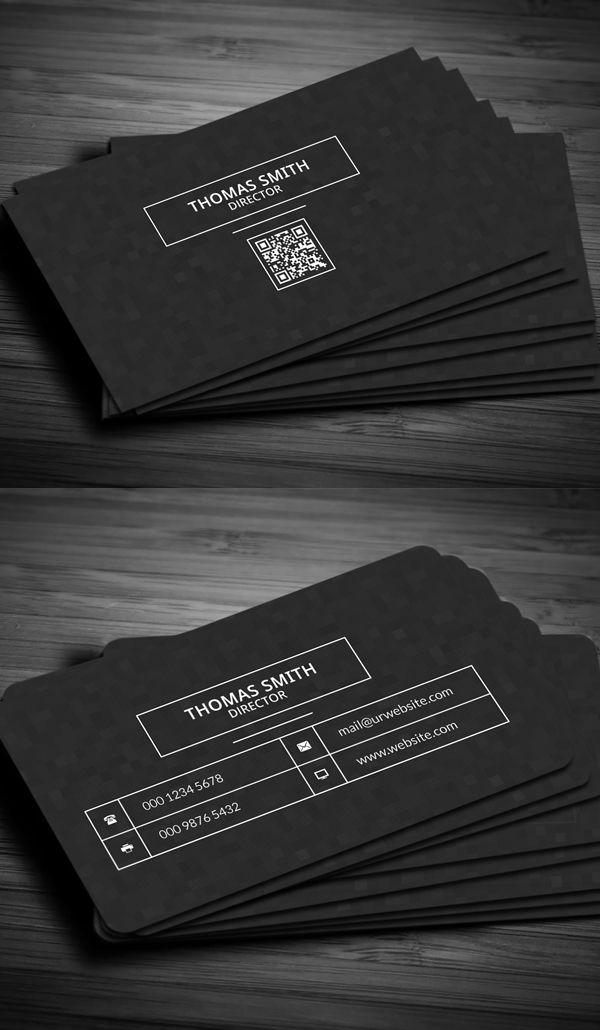 Modern Dark Pixels Business Card   Logos   Pinterest   Business ...