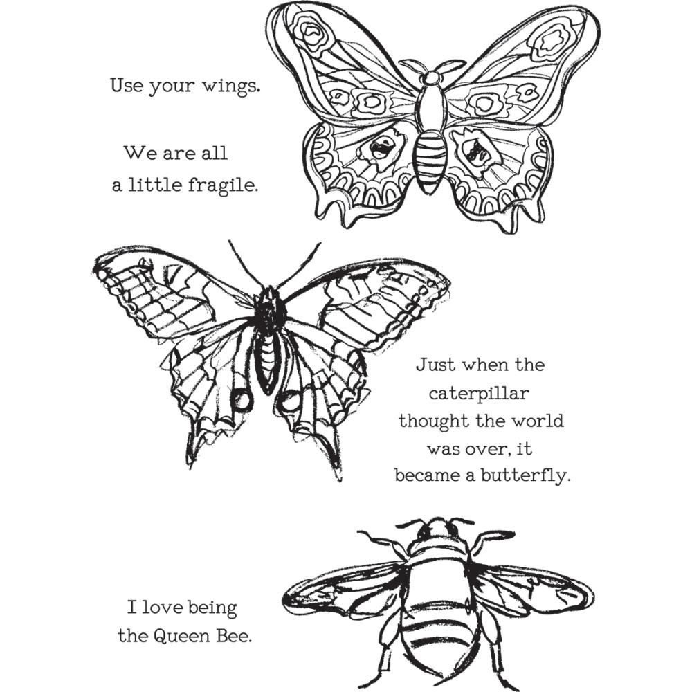 Add layers of creative design with these original Dina Wakley Cling Rubber Stamps Use the Media Stamps for mixed media art projects journals card