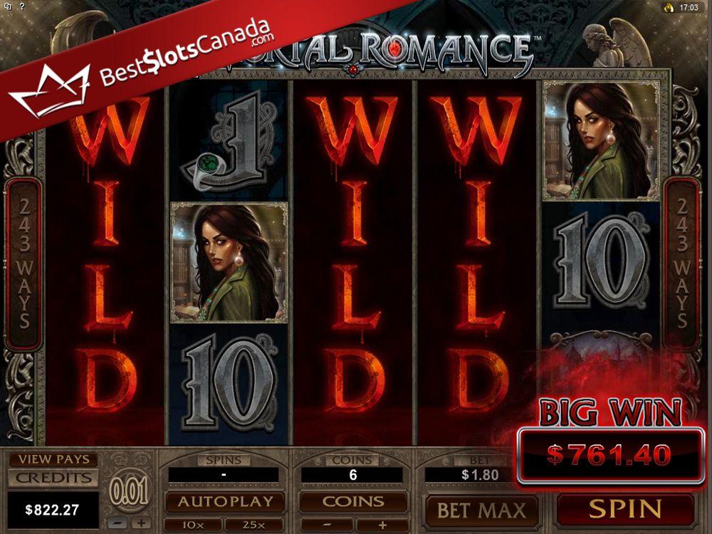 Random wild desire bonus on immortal romance leads to a