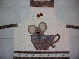 Resultado de imagem para avental de patchwork