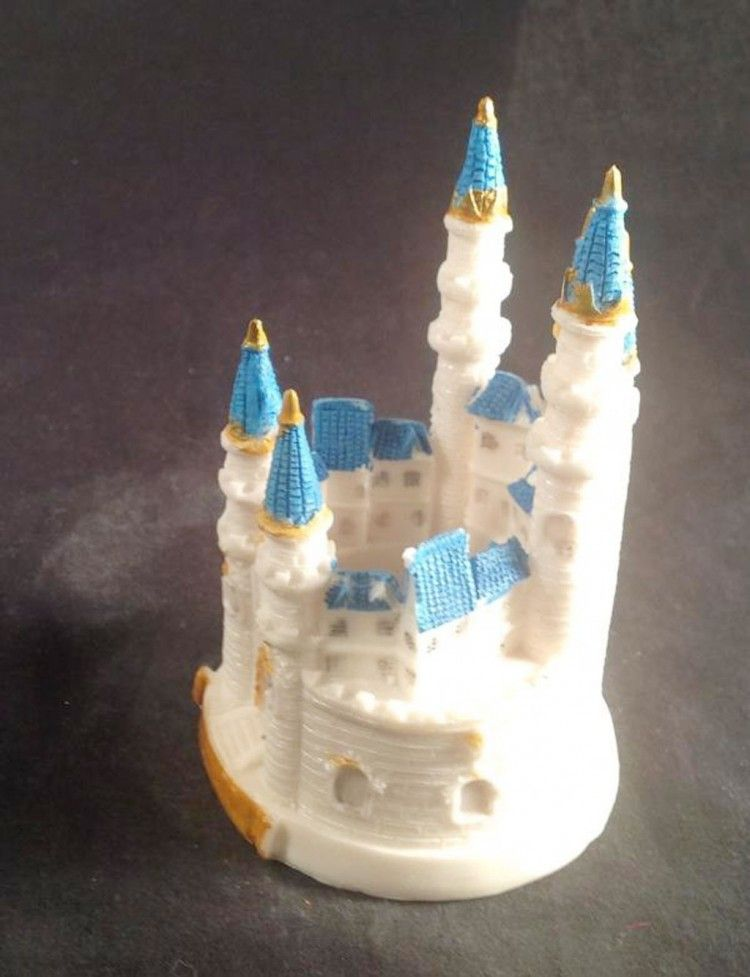 Blue cinderella castle wedding cake toppers castle