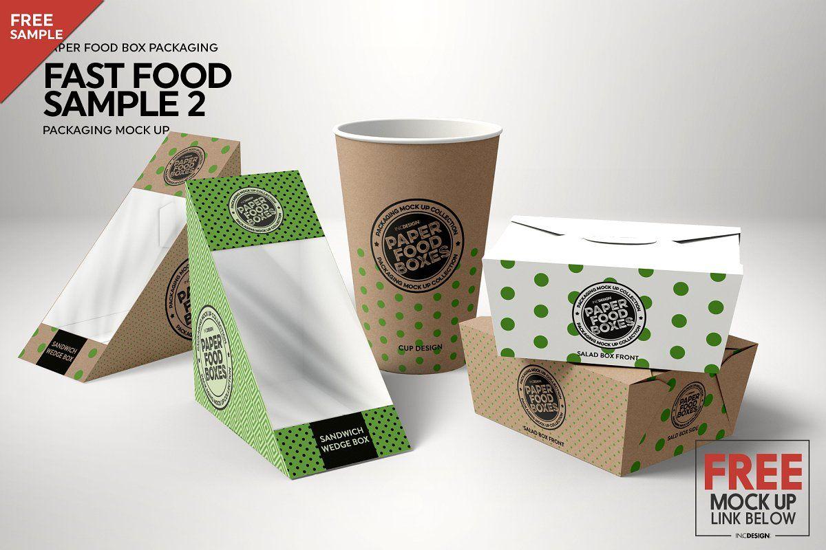 Bundle Paper Packaging Mockup Packaging Mockup Food Box Packaging Food Mockup