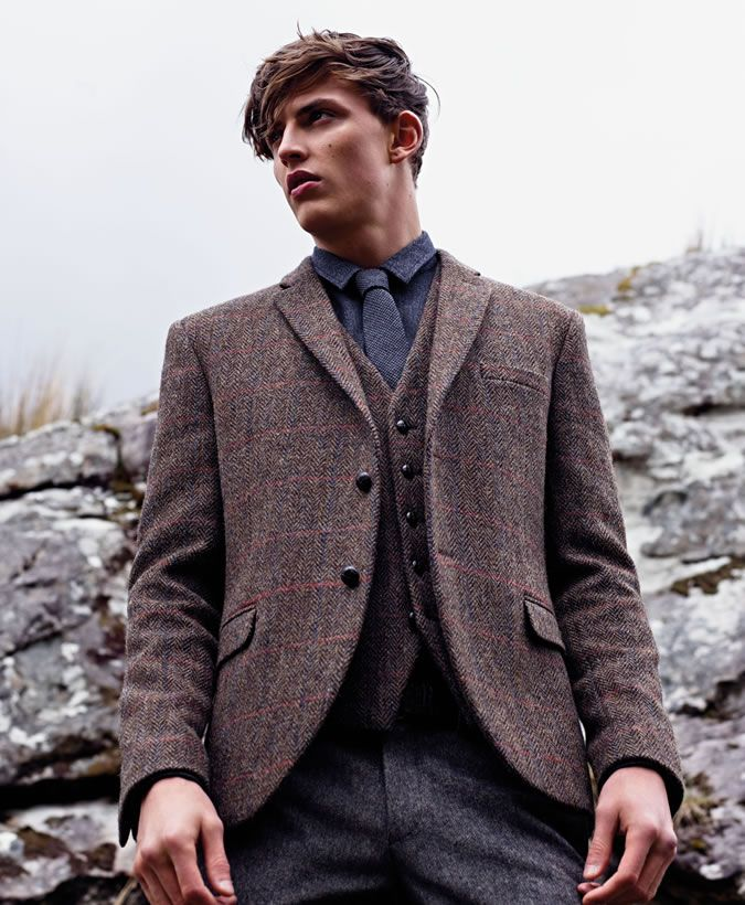 Primark Harris Tweed Menswear Collection Tweed Jacket Men Tweed Waistcoat Mens Tweed Waistcoat