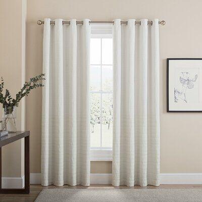 Latitude Run Adorata Striped Blackout Thermal Grommet Curtain