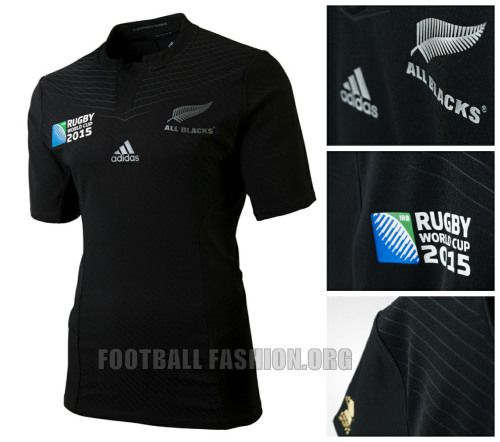 New Zealand All Blacks 2015 Rugby World Cup adidas Home Jersey