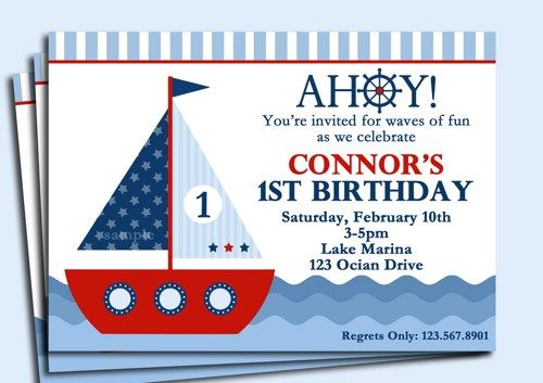 Sailboat Birthday Google Search For Lincoln Nautical