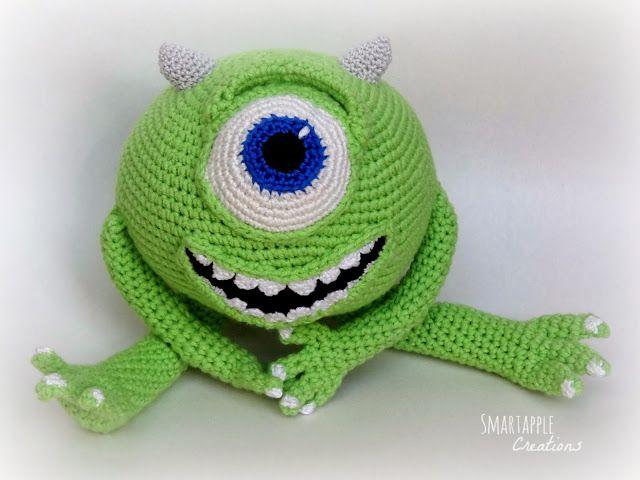 Amigurumi Monsters Inc : Amigurumi mikewazowski monsters inc by smartapple creations my